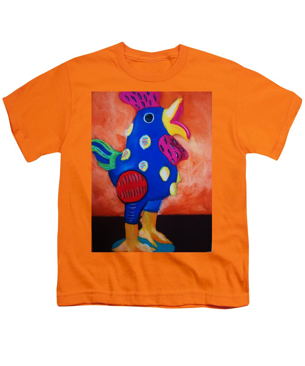Chick Youth T-Shirt featuring the painting Hear Ye Hear Ye by Melinda Etzold