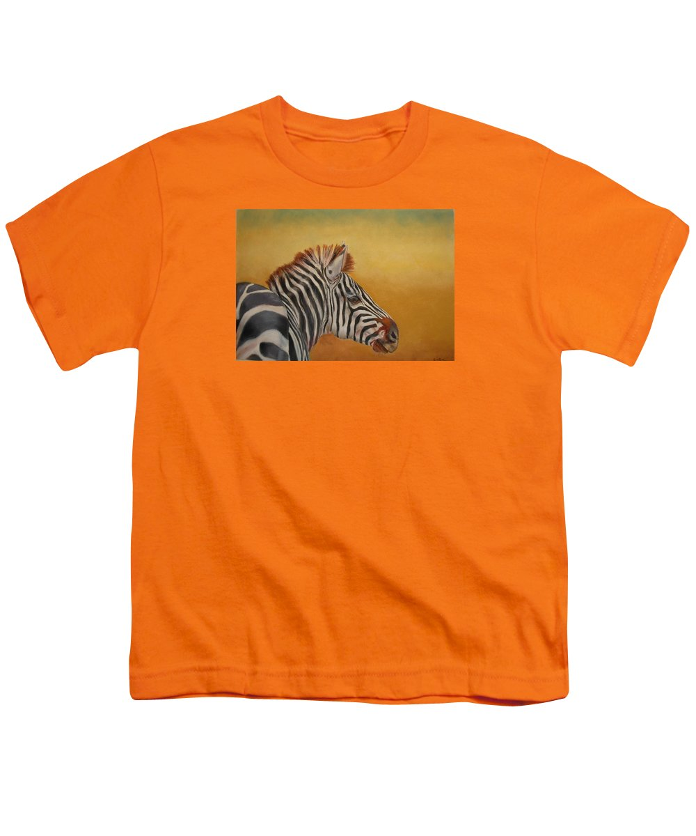 Africa Youth T-Shirt featuring the painting Hello Africa by Ceci Watson