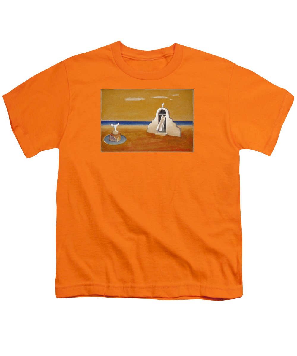 Chirico Youth T-Shirt featuring the painting House Of Eros by Dimitris Milionis