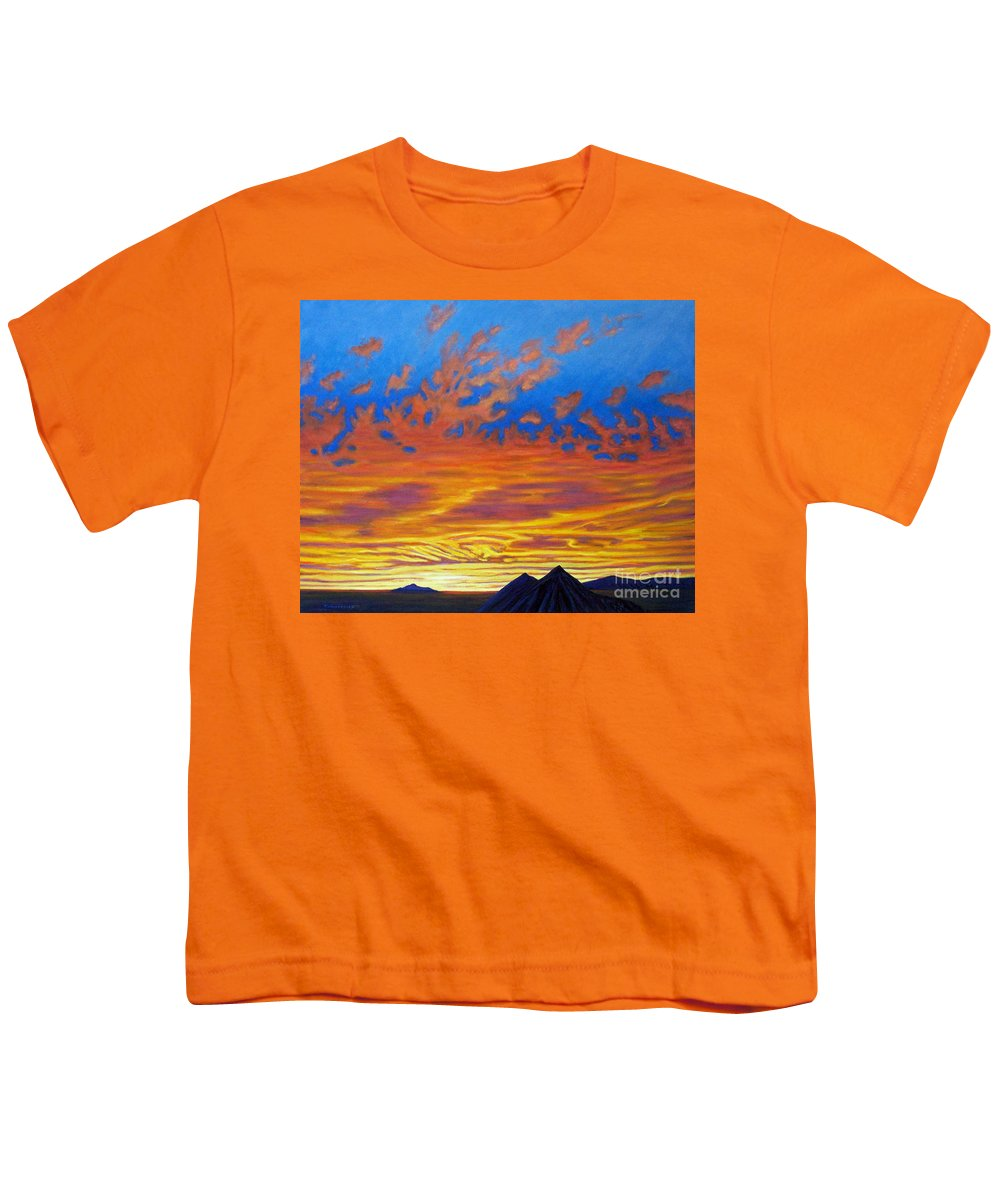 Landscape Youth T-Shirt featuring the painting Looking To The Southwest by Brian Commerford