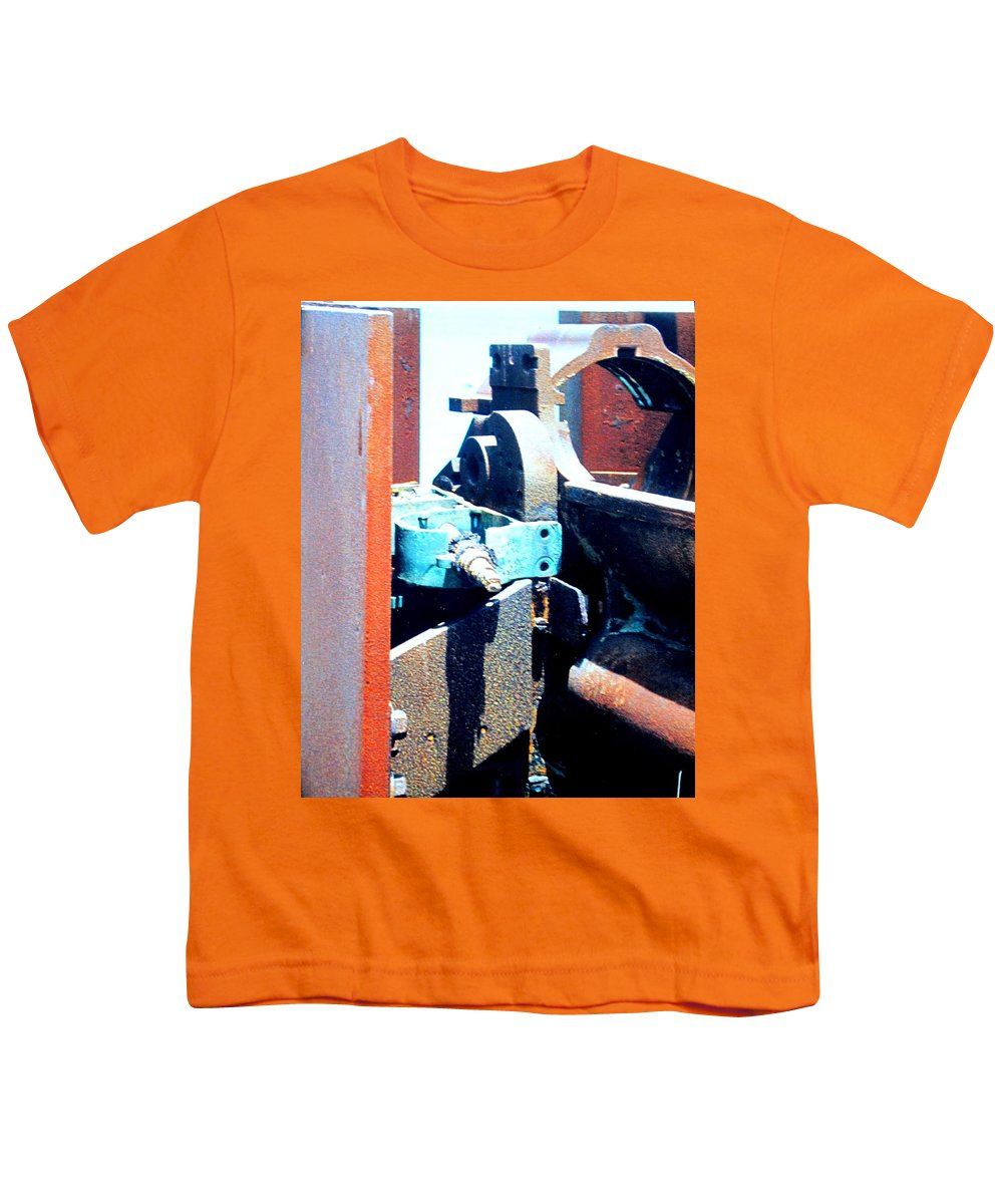 Rust Youth T-Shirt featuring the photograph Machinery by Ian MacDonald