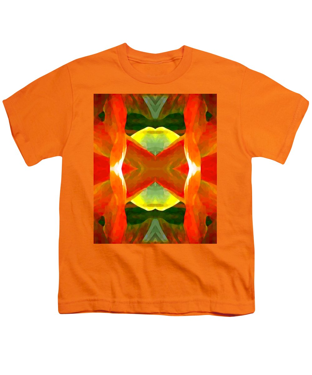 Abstract Youth T-Shirt featuring the painting Meditation by Amy Vangsgard