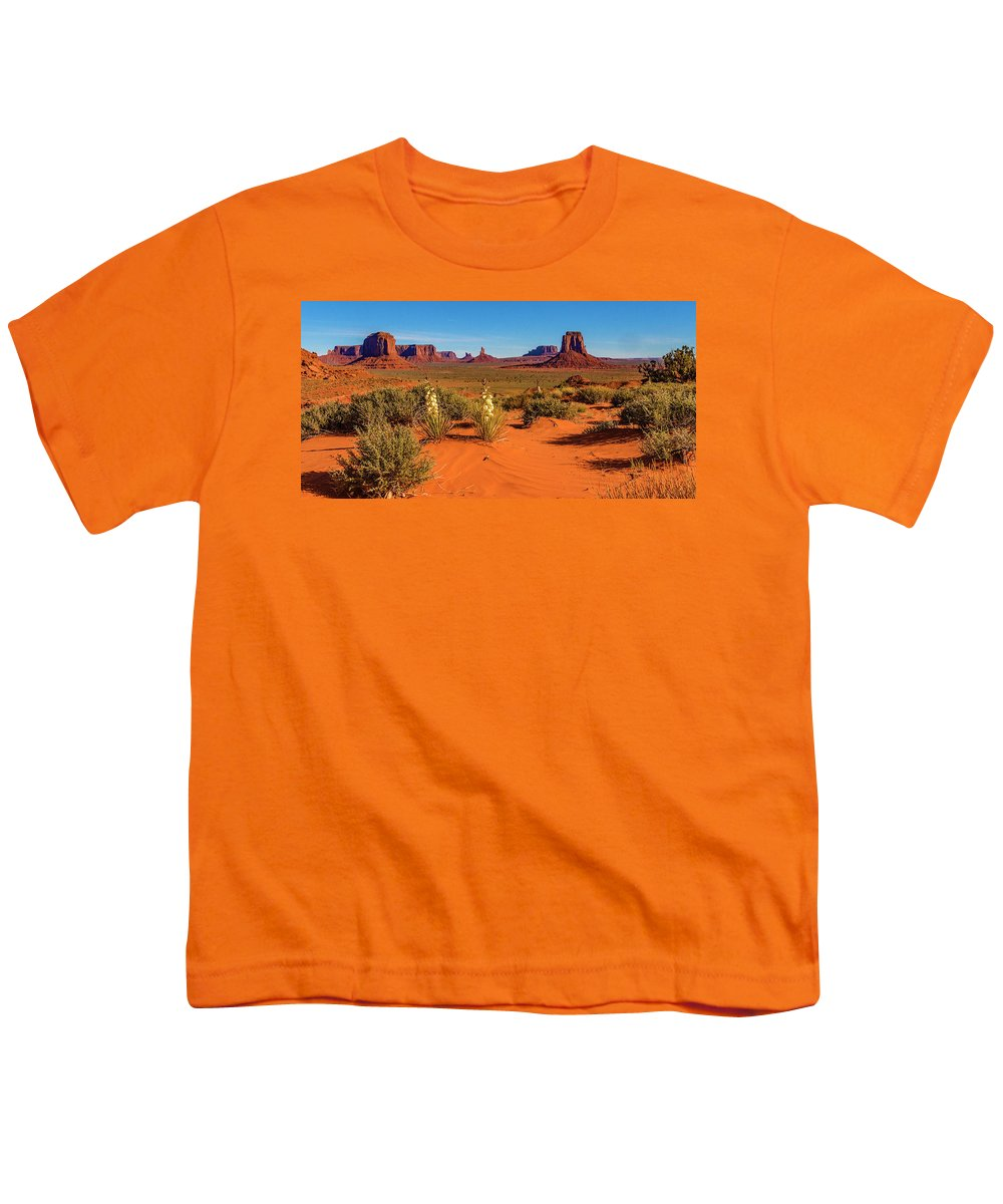Monument Valley Youth T-Shirt featuring the photograph Monument Valley by Norman Hall
