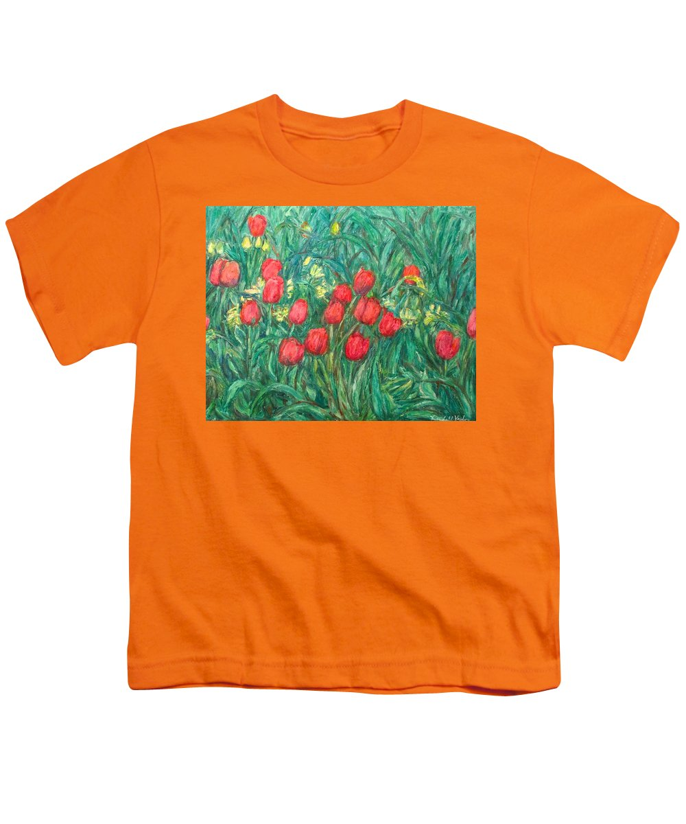 Kendall Kessler Youth T-Shirt featuring the painting Mostly Tulips by Kendall Kessler