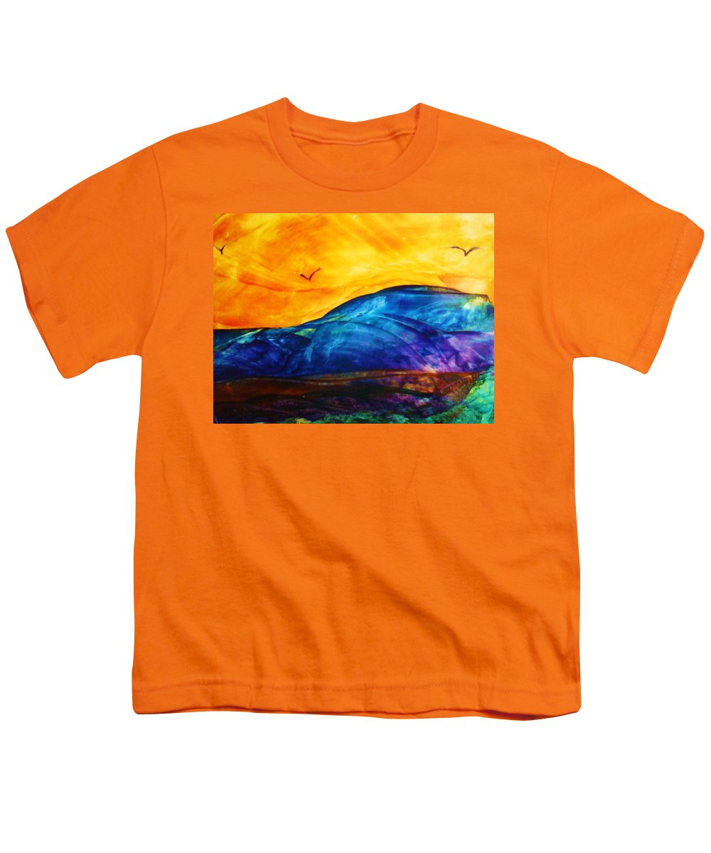 Landscape Youth T-Shirt featuring the painting One Fine Day by Melinda Etzold