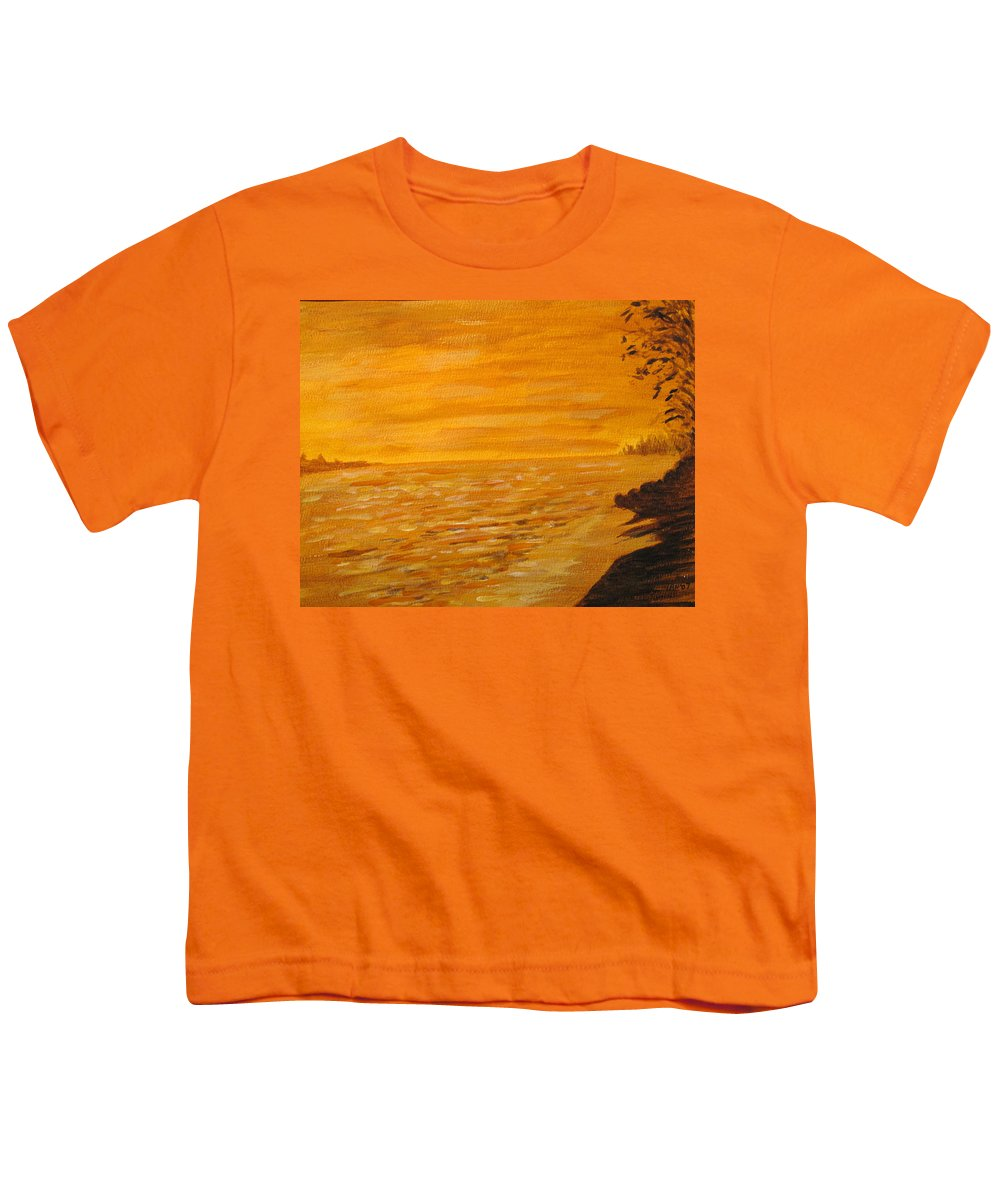 Ocean Youth T-Shirt featuring the painting Orange Beach by Ian MacDonald