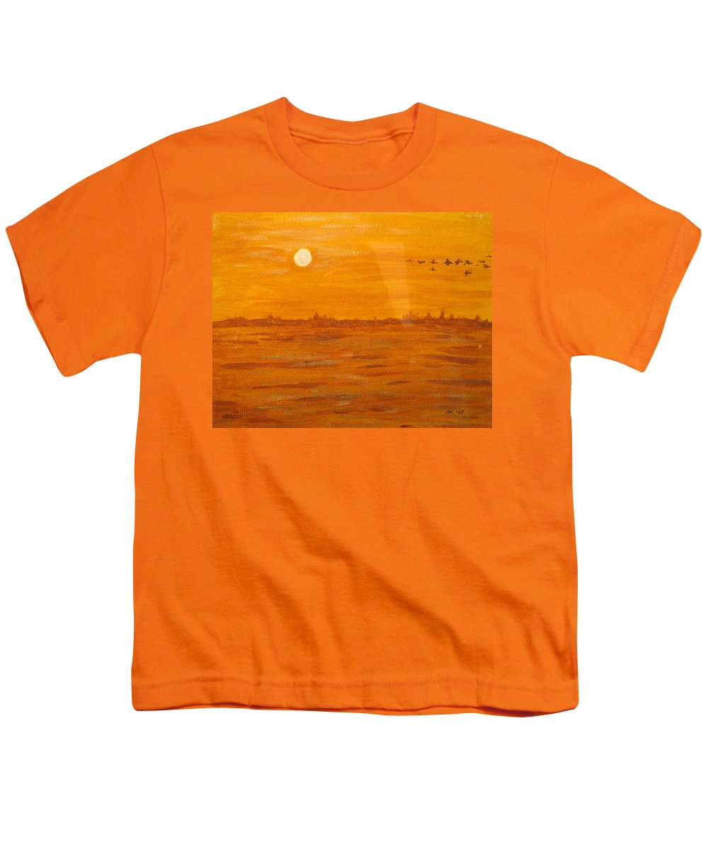 Orange Youth T-Shirt featuring the painting Orange Ocean by Ian MacDonald