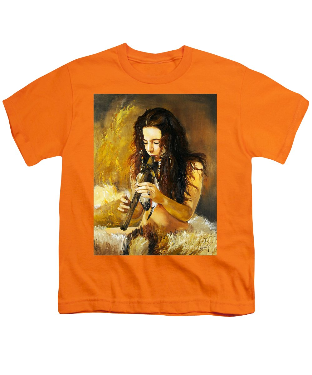Woman Youth T-Shirt featuring the painting Release by J W Baker