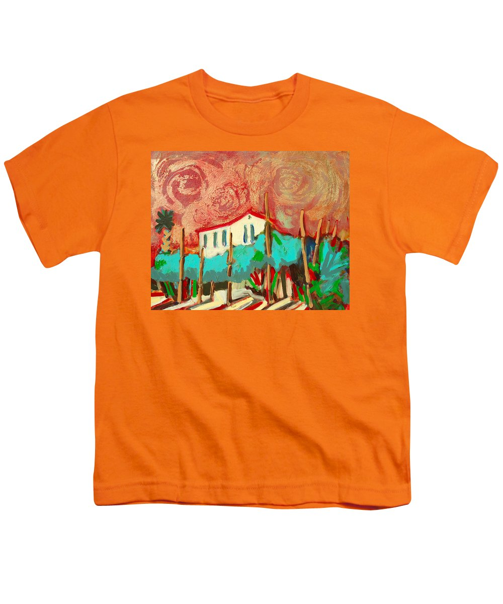 Tuscany Youth T-Shirt featuring the painting Ricordare by Kurt Hausmann