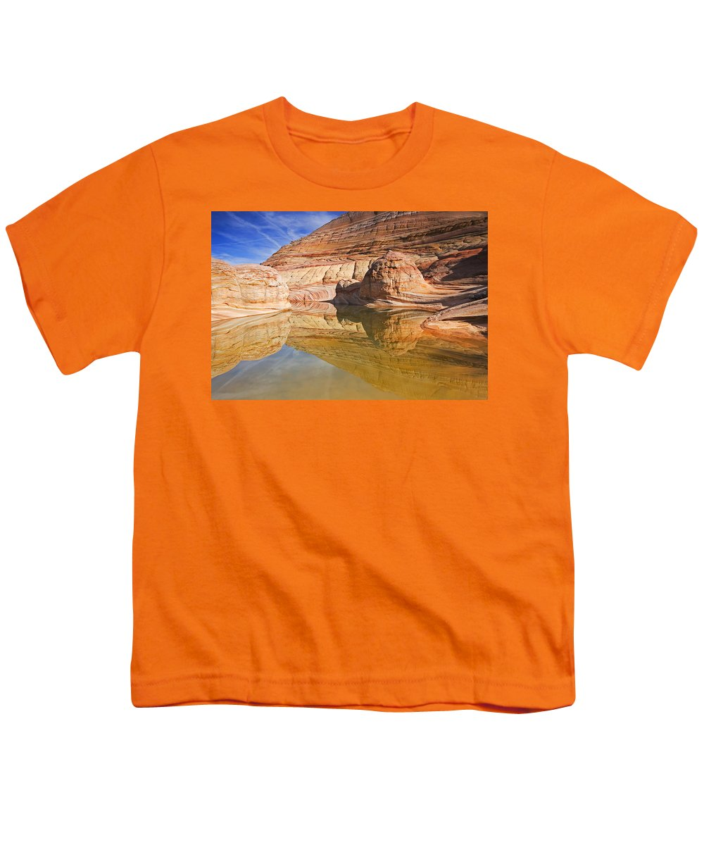 Pool Youth T-Shirt featuring the photograph Sandstone Illusions by Mike Dawson