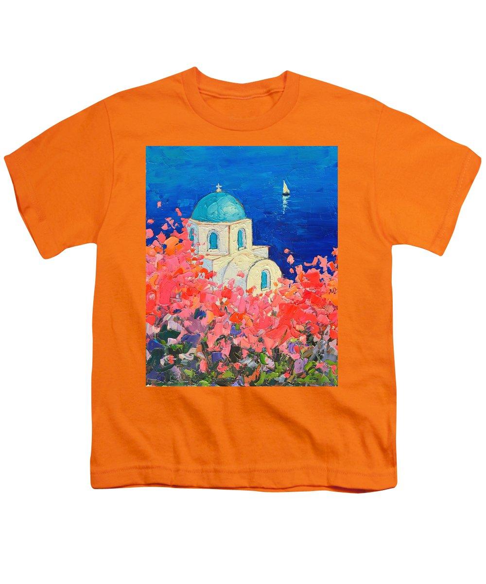 la meilleure attitude fa62d 6f9ae Santorini Impression - Full Bloom In Santorini Greece Youth T-Shirt