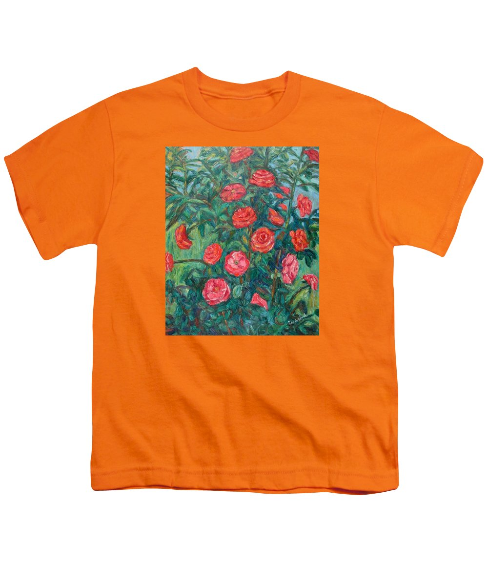 Rose Youth T-Shirt featuring the painting Spring Roses by Kendall Kessler