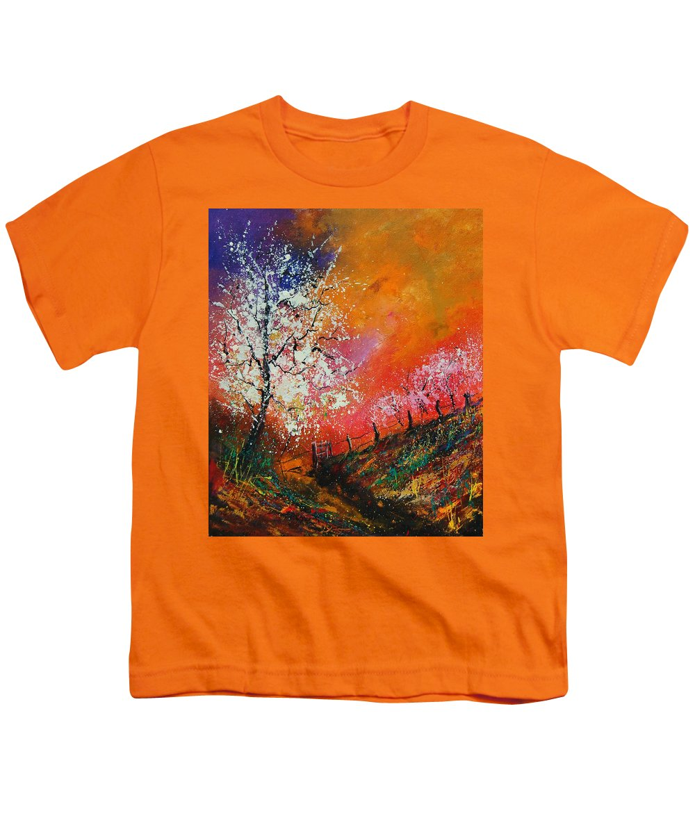 Spring Youth T-Shirt featuring the painting Spring Today by Pol Ledent