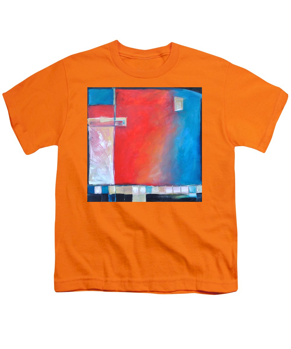 Abstract Youth T-Shirt featuring the painting Structures And Solitude Revisited by Tim Nyberg