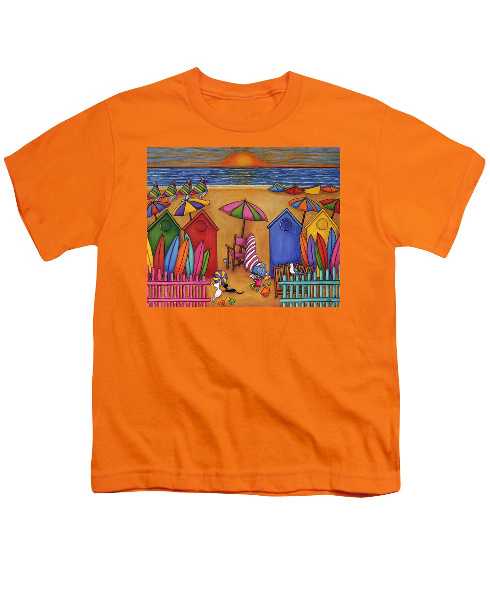 Summer Youth T-Shirt featuring the painting Summer Delight by Lisa Lorenz