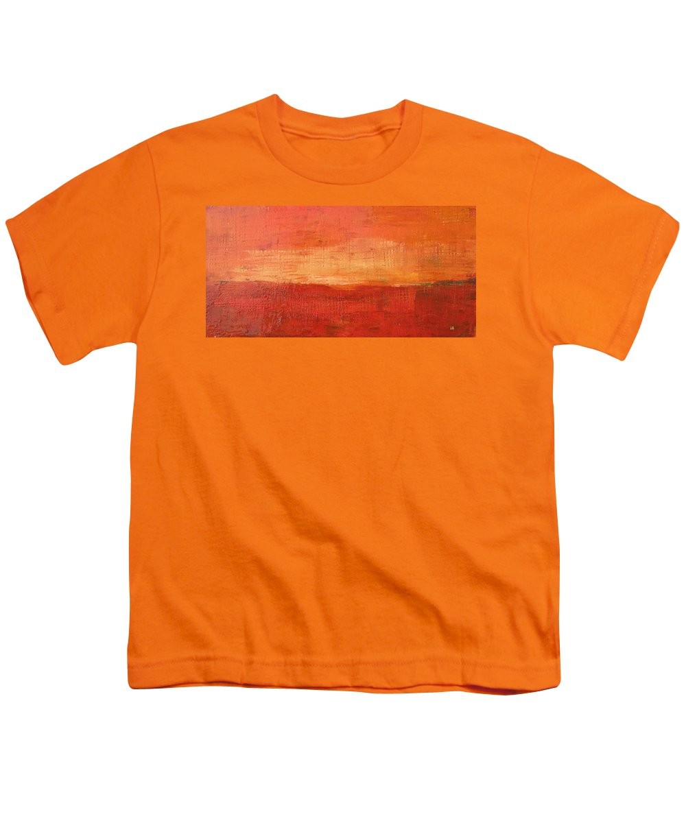 Abstract Youth T-Shirt featuring the painting Sunset by Habib Ayat