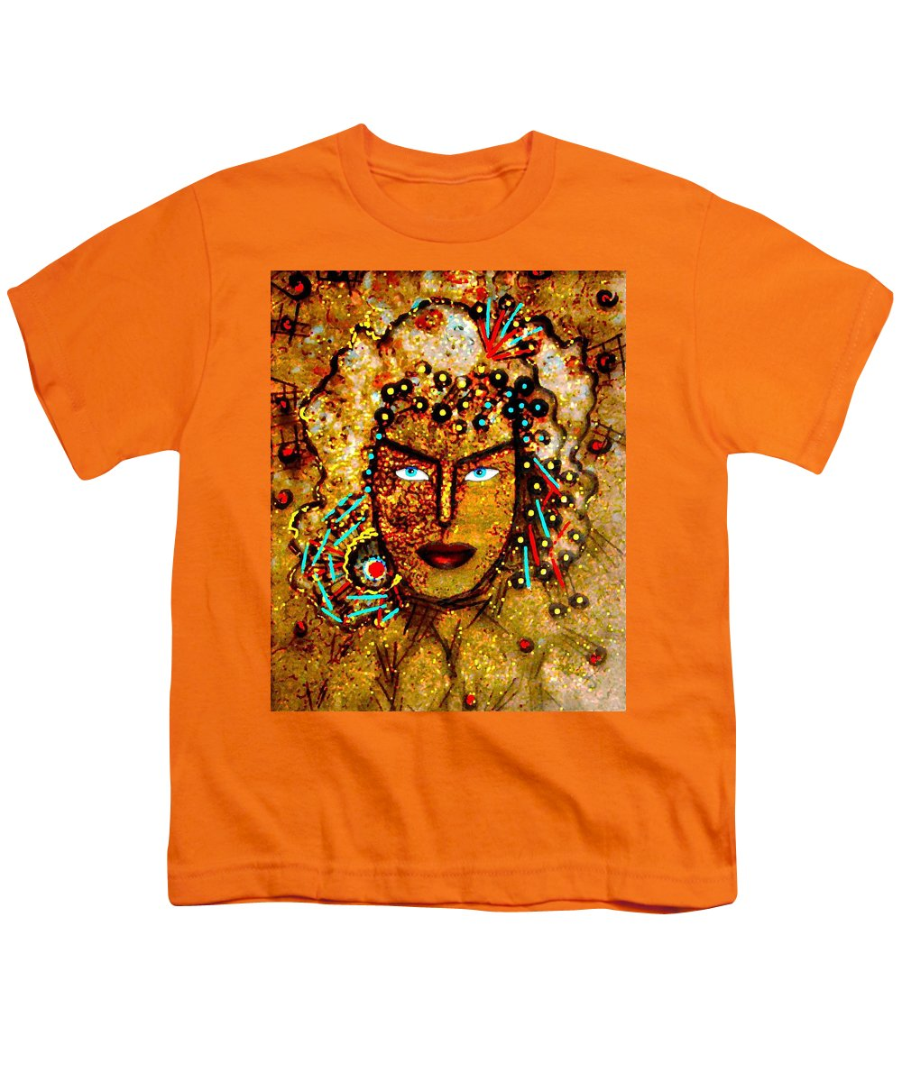 Goddess Youth T-Shirt featuring the painting The Golden Goddess by Natalie Holland