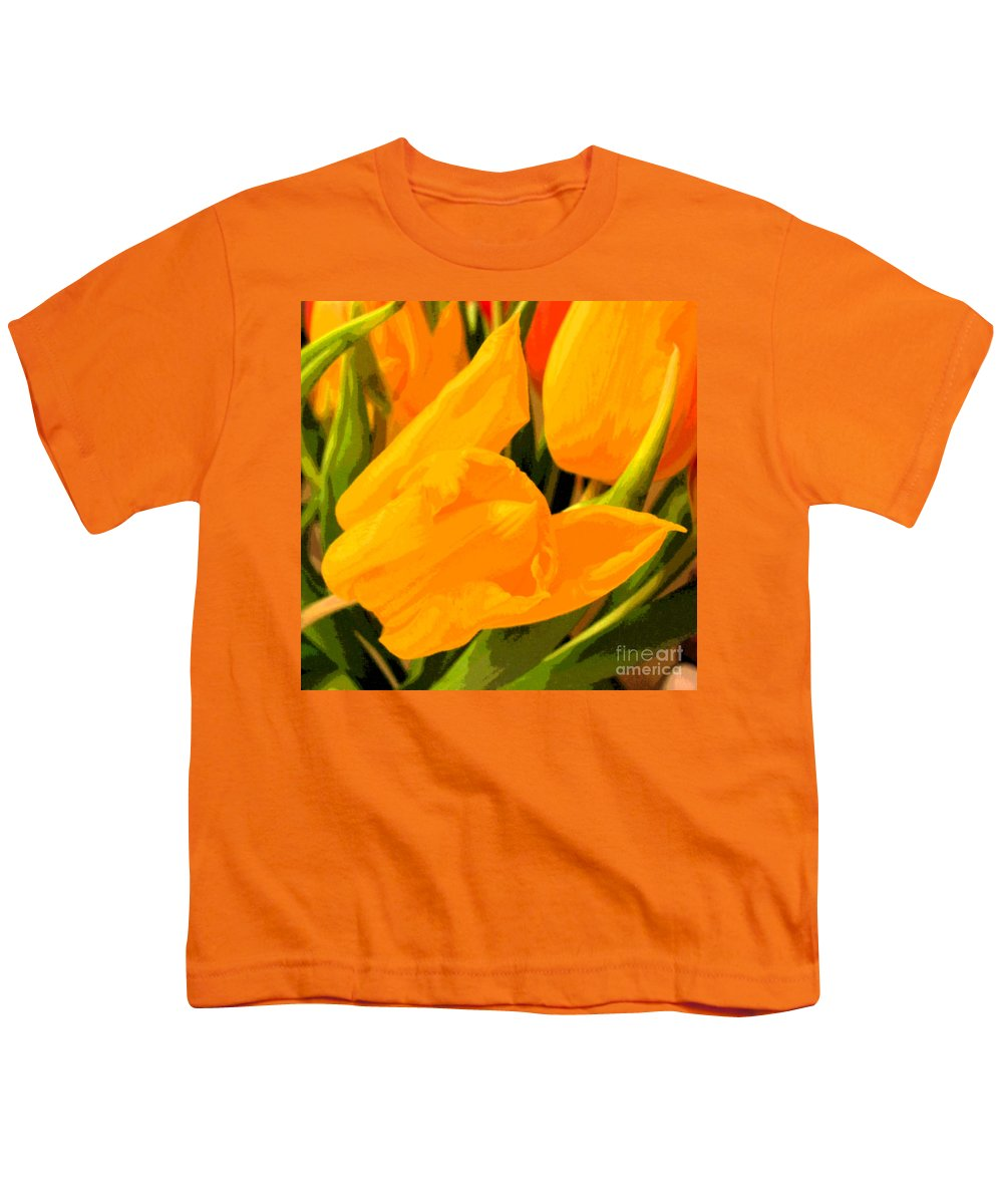 Tulip Youth T-Shirt featuring the photograph Tulips by Amanda Barcon