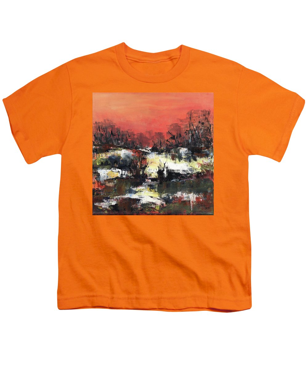Abstract Youth T-Shirt featuring the painting Twilight Madness by Aniko Hencz