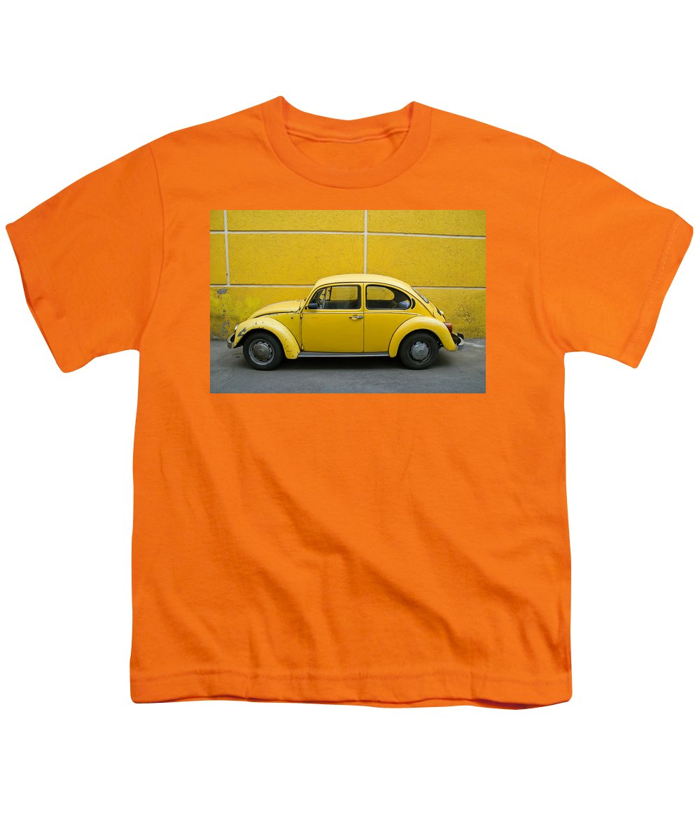 Yellow Youth T-Shirt featuring the photograph Yellow Bug by Skip Hunt