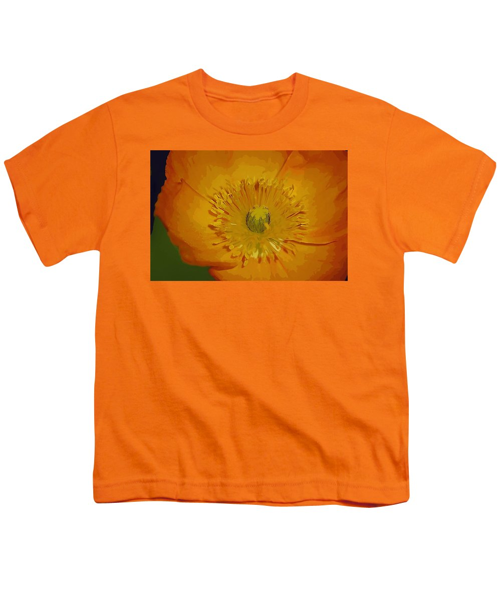 Poppy Youth T-Shirt featuring the photograph Yellow Poppy by Donna Bentley