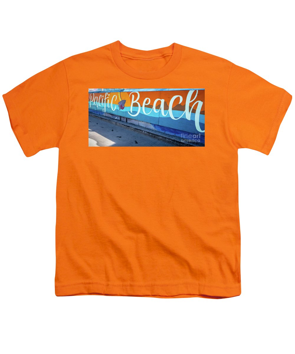 Pacific Beach Youth T-Shirt featuring the photograph Pacific Beach Sign San Diego California by Edward Fielding