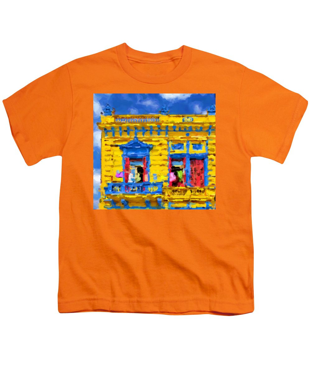 Buenos Aires Youth T-Shirt featuring the mixed media Buenos Aires by Asbjorn Lonvig