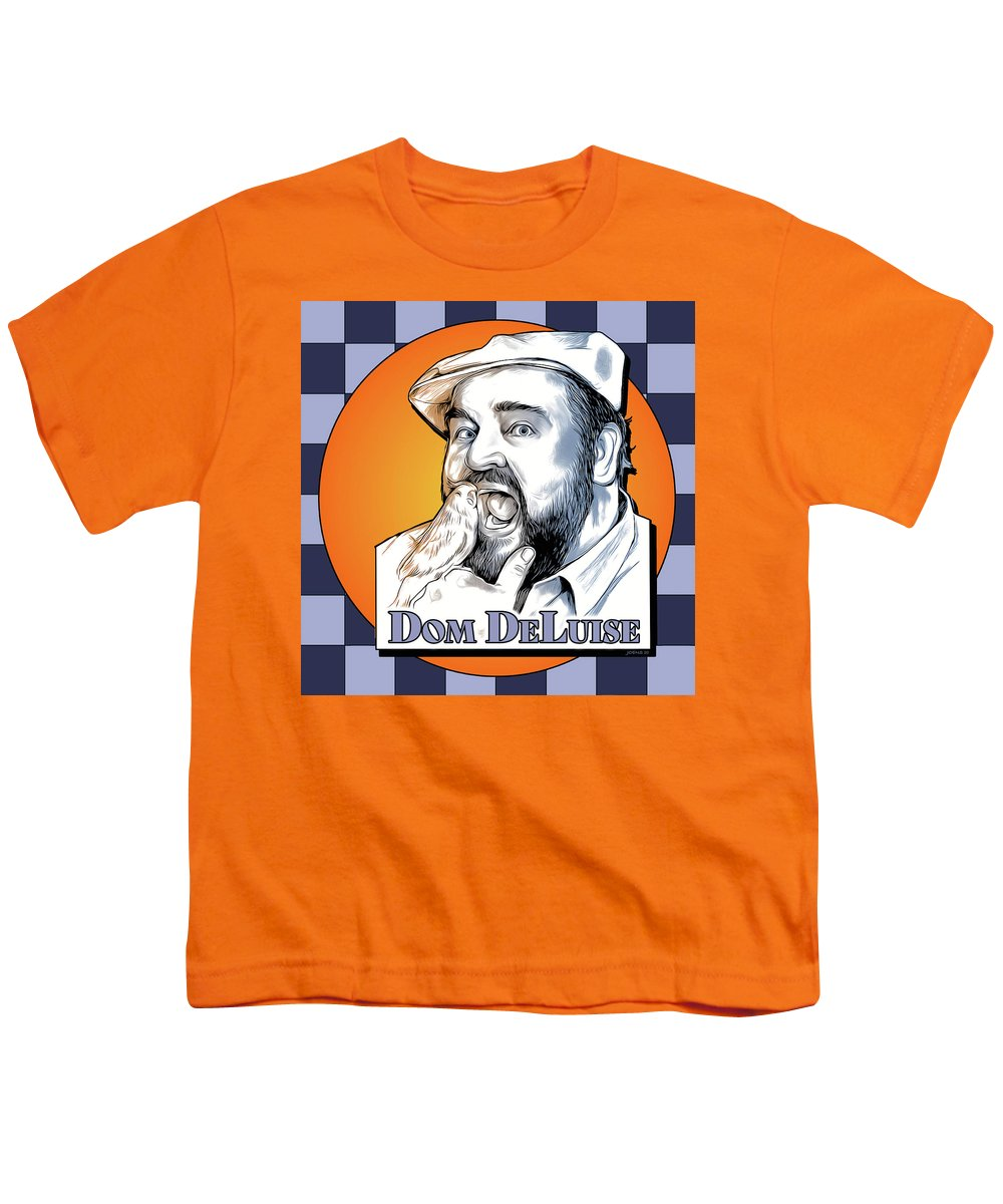 Dom Deluise Youth T-Shirt featuring the digital art Dom and the Bird by Greg Joens