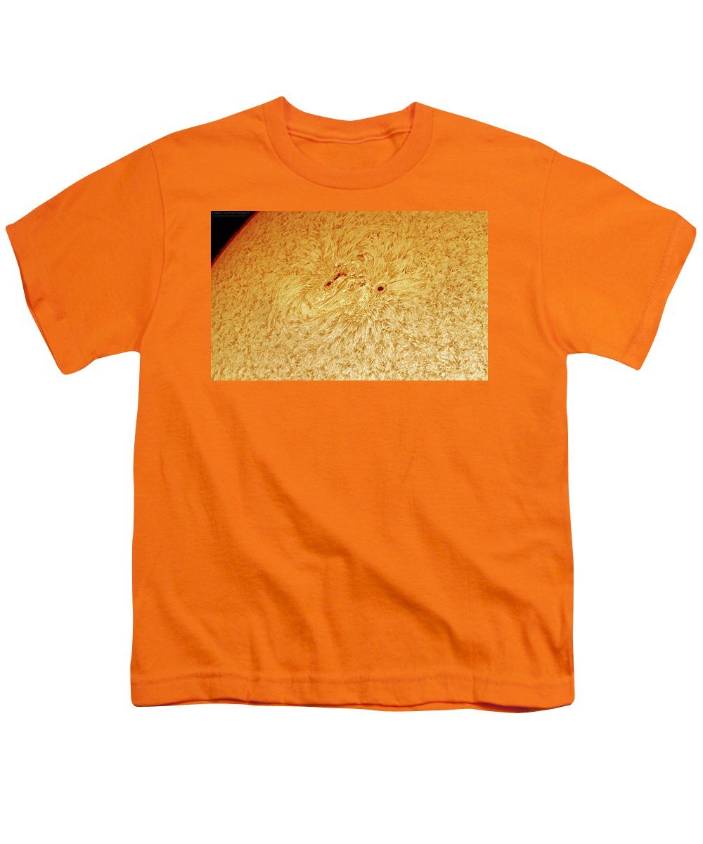 Sunspots Youth T-Shirt featuring the photograph Sunspot AR 2781 by Prabhu Astrophotography