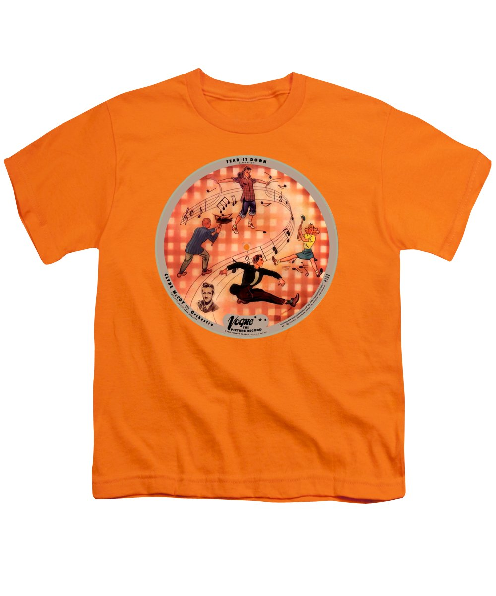 Vogue Picture Record Youth T-Shirt featuring the photograph Vogue Record Art - R 722 - P 6 - Square Version by John Robert Beck