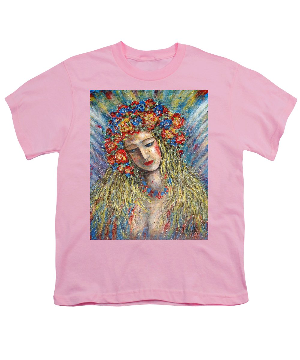 Painting Youth T-Shirt featuring the painting The Loving Angel by Natalie Holland