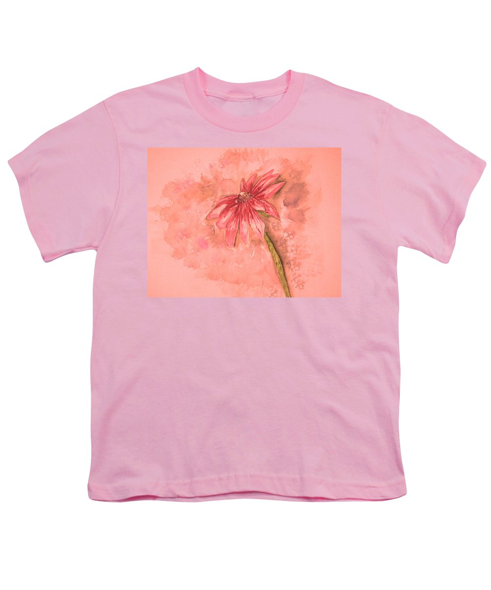 Watercolor Youth T-Shirt featuring the painting Melancholoy by Crystal Hubbard