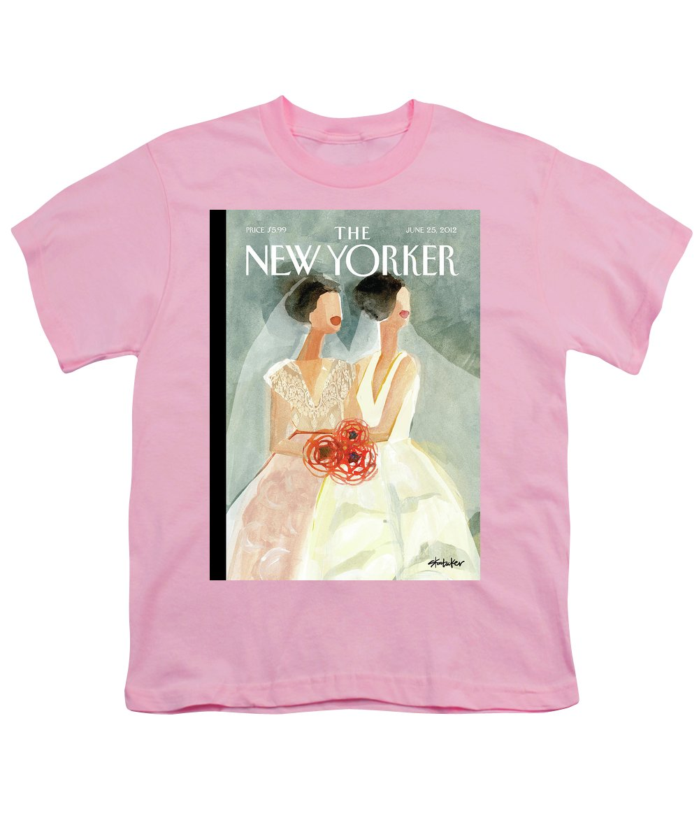 June Brides Youth T-Shirt featuring the painting June Brides by Gayle Kabaker