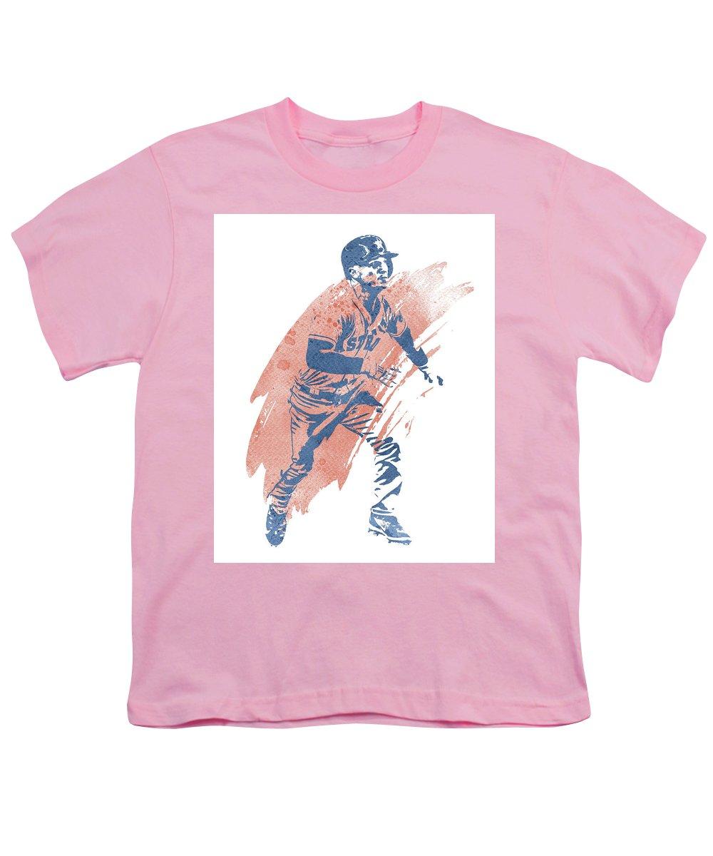 quality design 8cbf3 8c811 Alex Bregman Houston Astros Water Color Art 1 Youth T-Shirt