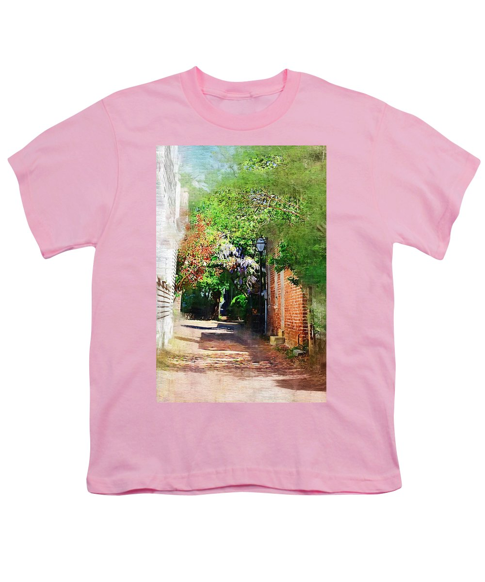 Alley Youth T-Shirt featuring the photograph Charlestons Alley by Donna Bentley