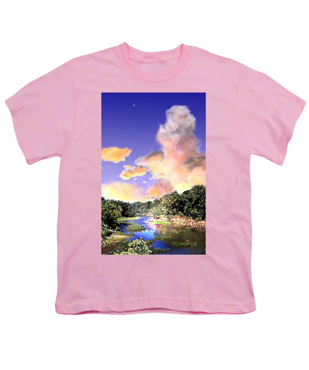 Landscape Youth T-Shirt featuring the digital art Evening Star by Steve Karol