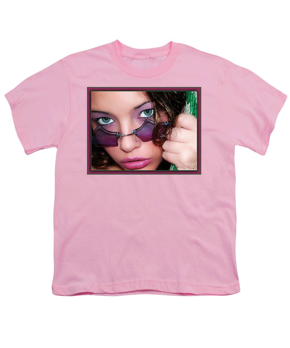 Clay Youth T-Shirt featuring the photograph Green Eye'd Girl by Clayton Bruster