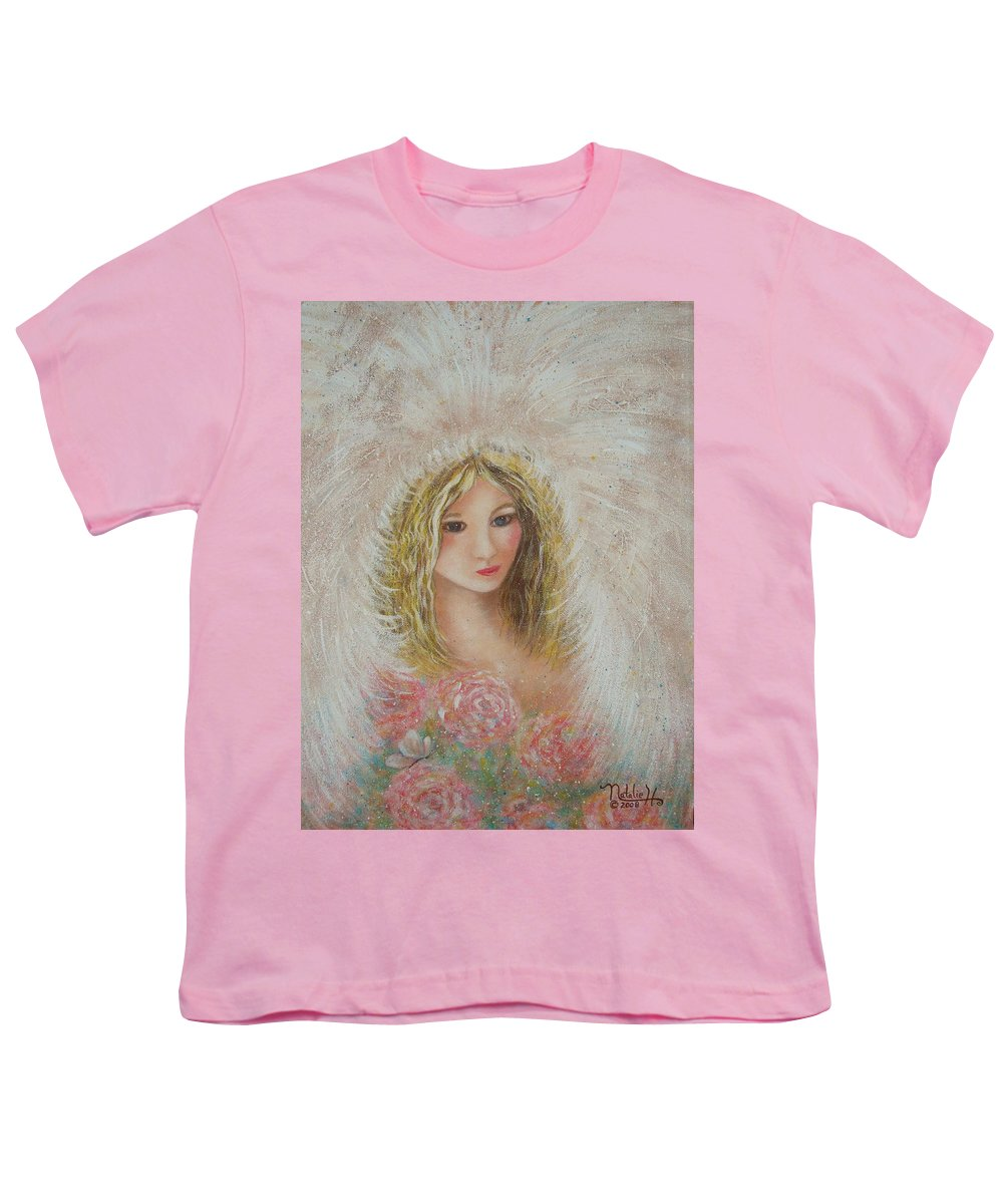 Angel Youth T-Shirt featuring the painting Heavenly Angel by Natalie Holland