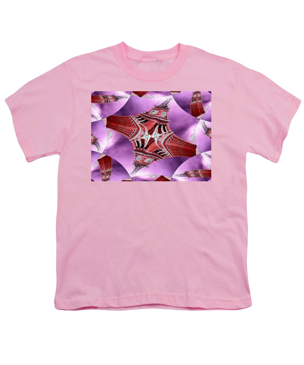 Seattle Youth T-Shirt featuring the digital art King Street Station In Fractal by Tim Allen