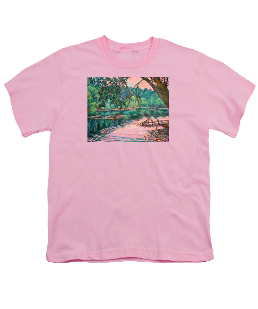 Riverview Park Youth T-Shirt featuring the painting Riverview At Dusk by Kendall Kessler