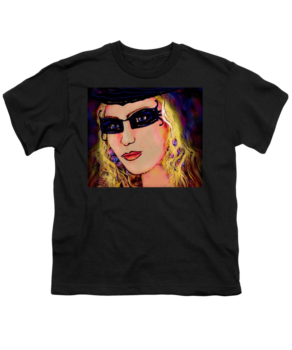Portrait Youth T-Shirt featuring the mixed media Casablanca Girl by Natalie Holland