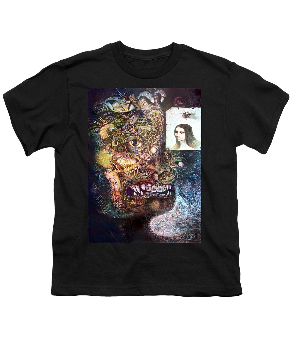 Mythology Youth T-Shirt featuring the painting The Beast Of Babylon by Otto Rapp