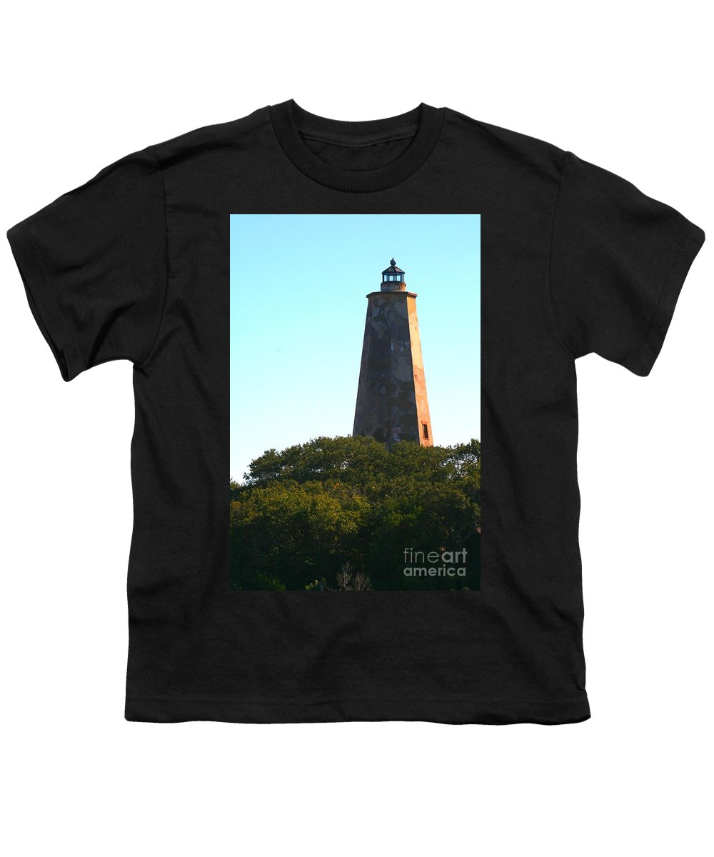 Lighthouse Youth T-Shirt featuring the photograph The Lighthouse by Nadine Rippelmeyer
