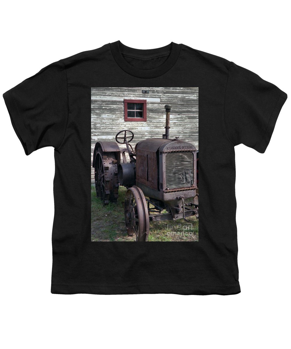 Farm Tractor Youth T-Shirt featuring the photograph The Old Mule by Richard Rizzo