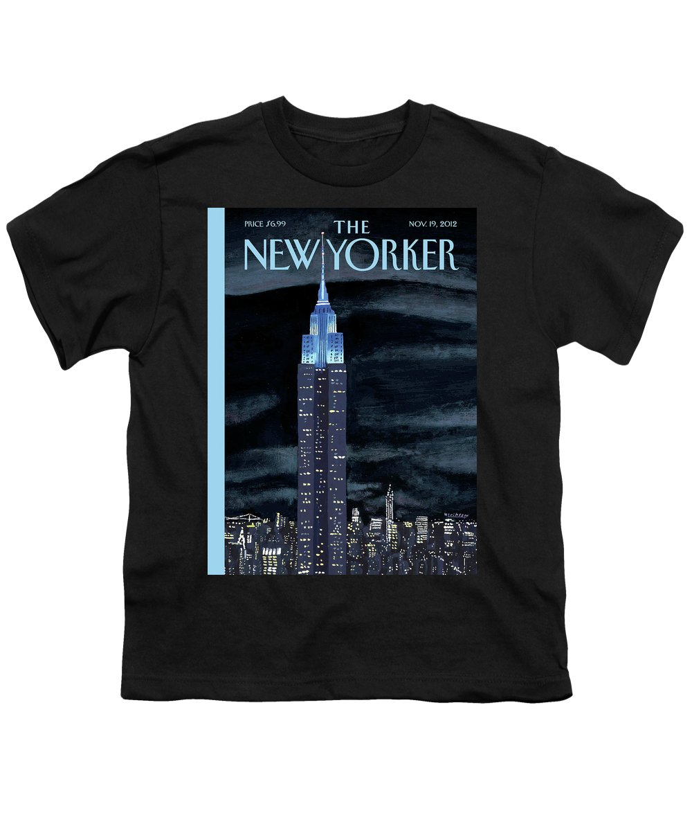 New York City Youth T-Shirt featuring the painting Rhapsody In Blue by Mark Ulriksen