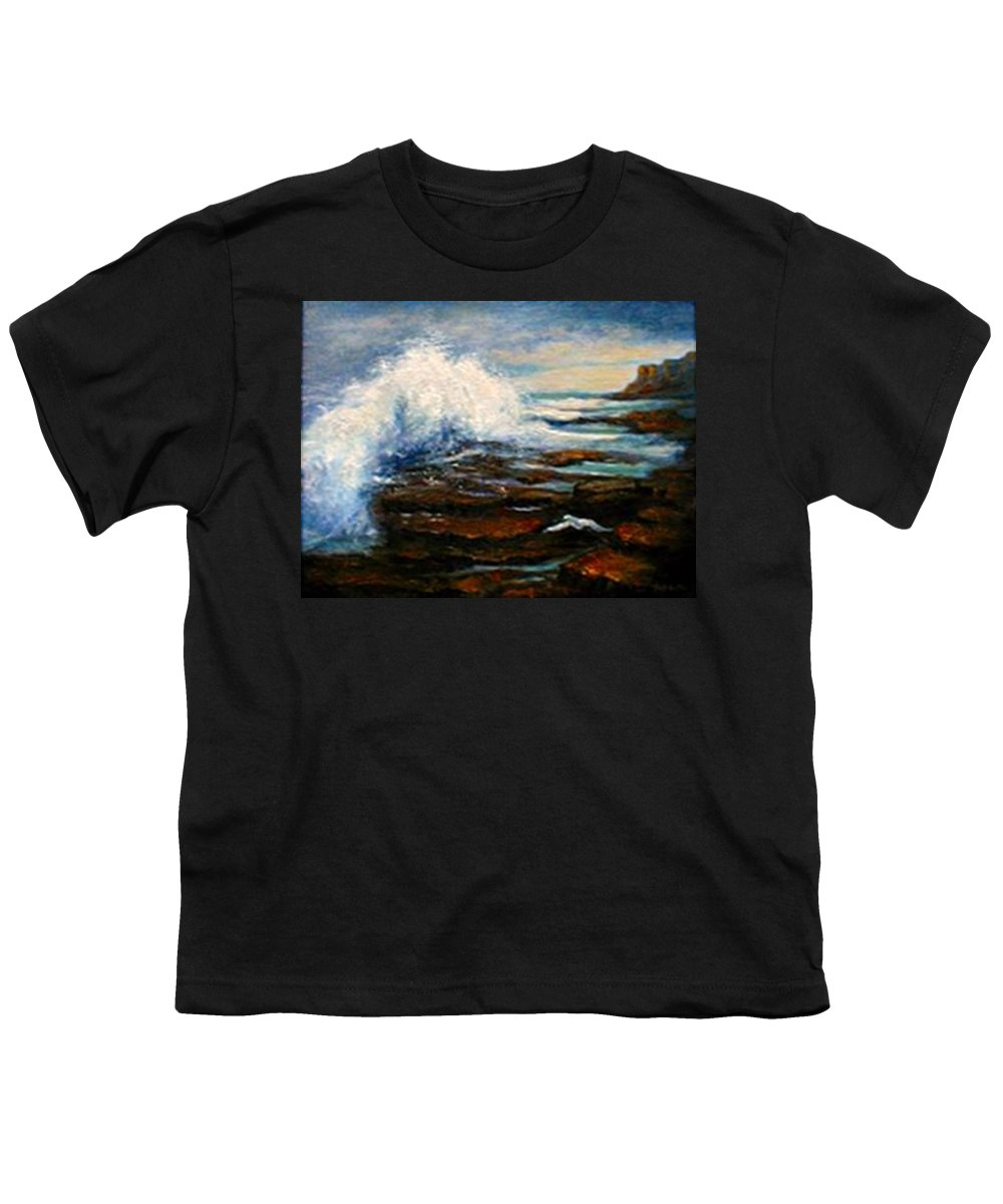 Seascape Youth T-Shirt featuring the painting After The Storm by Gail Kirtz