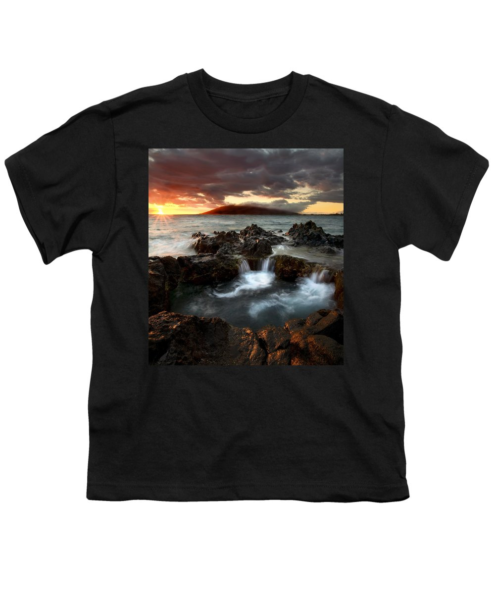 Sunset Youth T-Shirt featuring the photograph Bubbling Cauldron by Mike Dawson