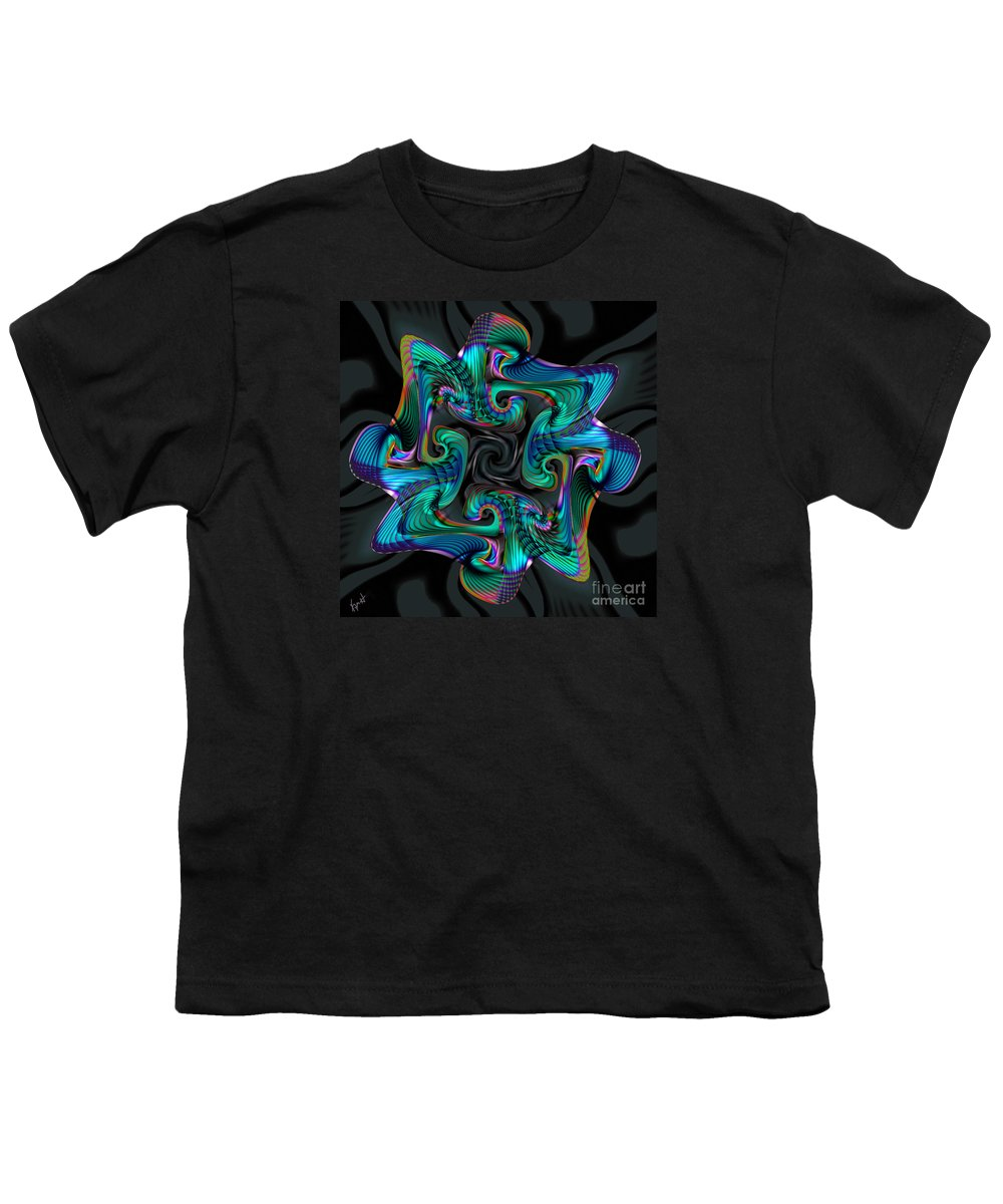 Cadenza Youth T-Shirt featuring the digital art Cadenza by Kimberly Hansen