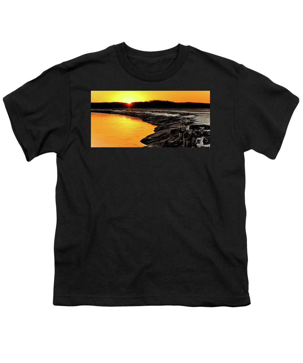 Alaska Youth T-Shirt featuring the photograph Contrasts In Nature by Ron Day