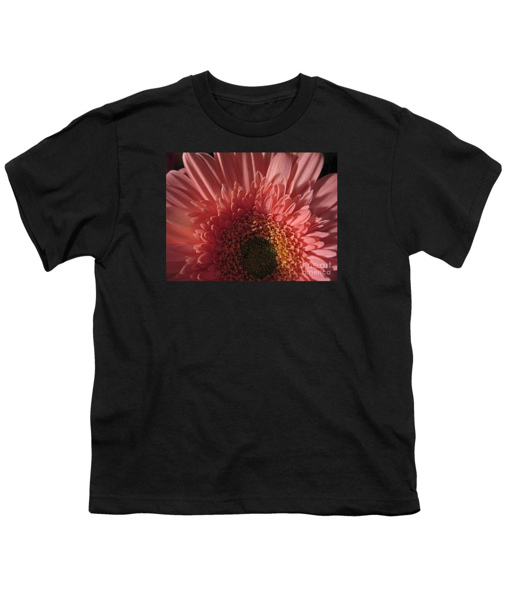 Flower Youth T-Shirt featuring the photograph Dark Radiance by Ann Horn
